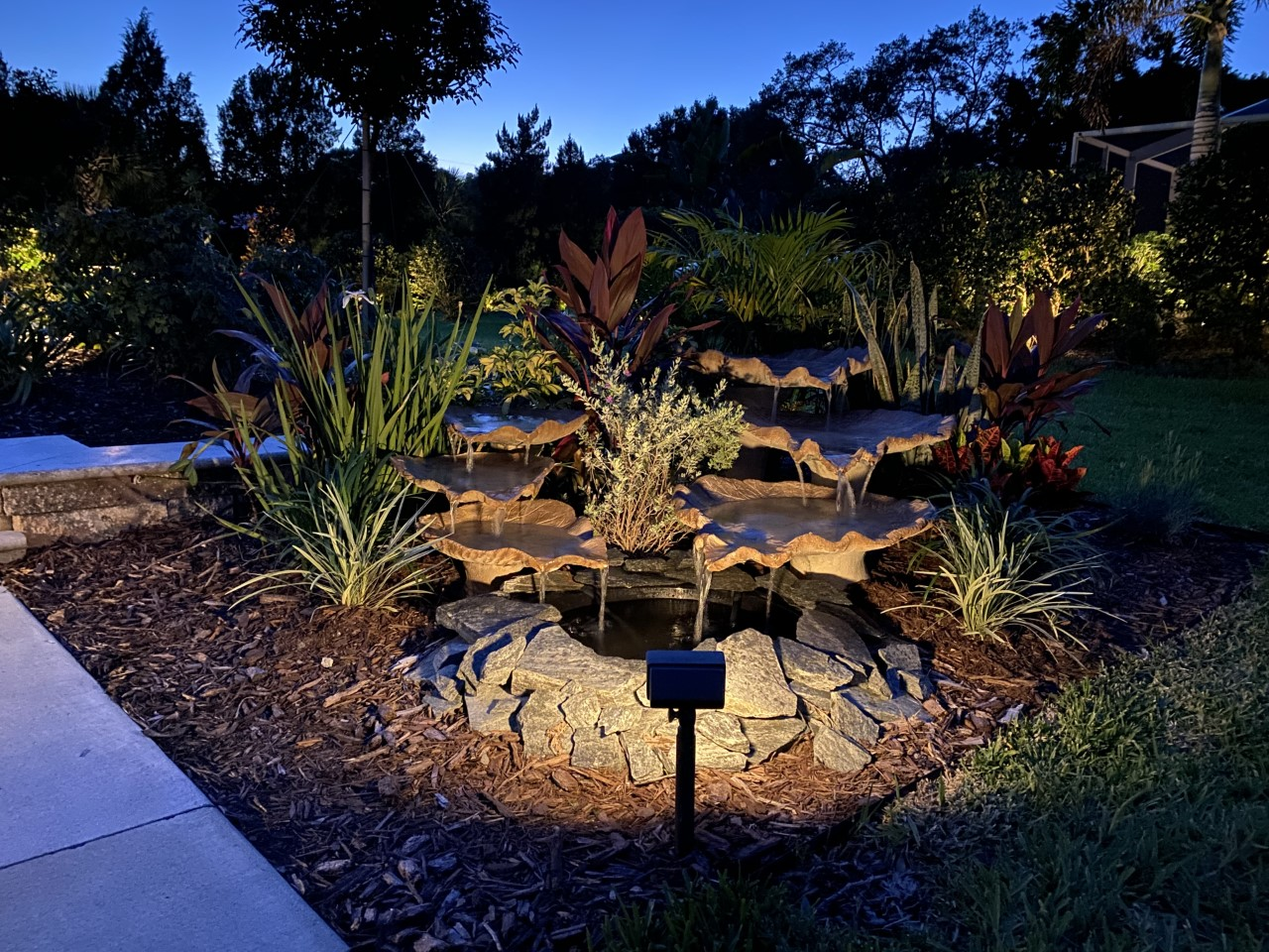 landscaping with lighting