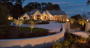 San Rafael house with landscape lighting