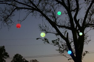 colorful light globes