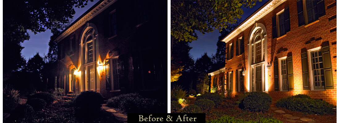 Before and after architectural lighting
