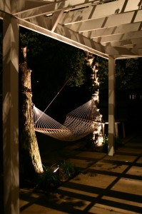 pergola and swing outdoor lighting