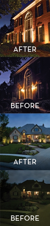 before and after home lighting