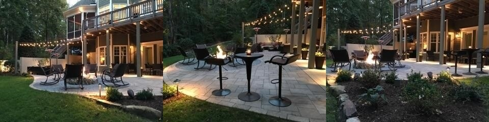 Lighting over deck and patio
