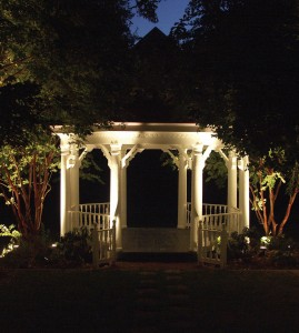gazebo lighting at night