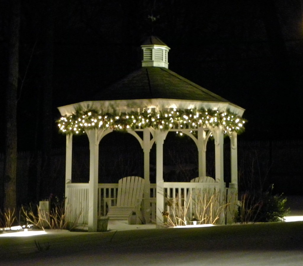 large lit gazebo