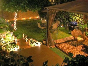 low voltage lighting for outdoor space