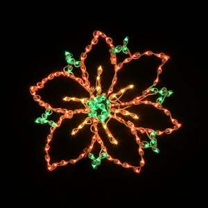 poinsetta LED light