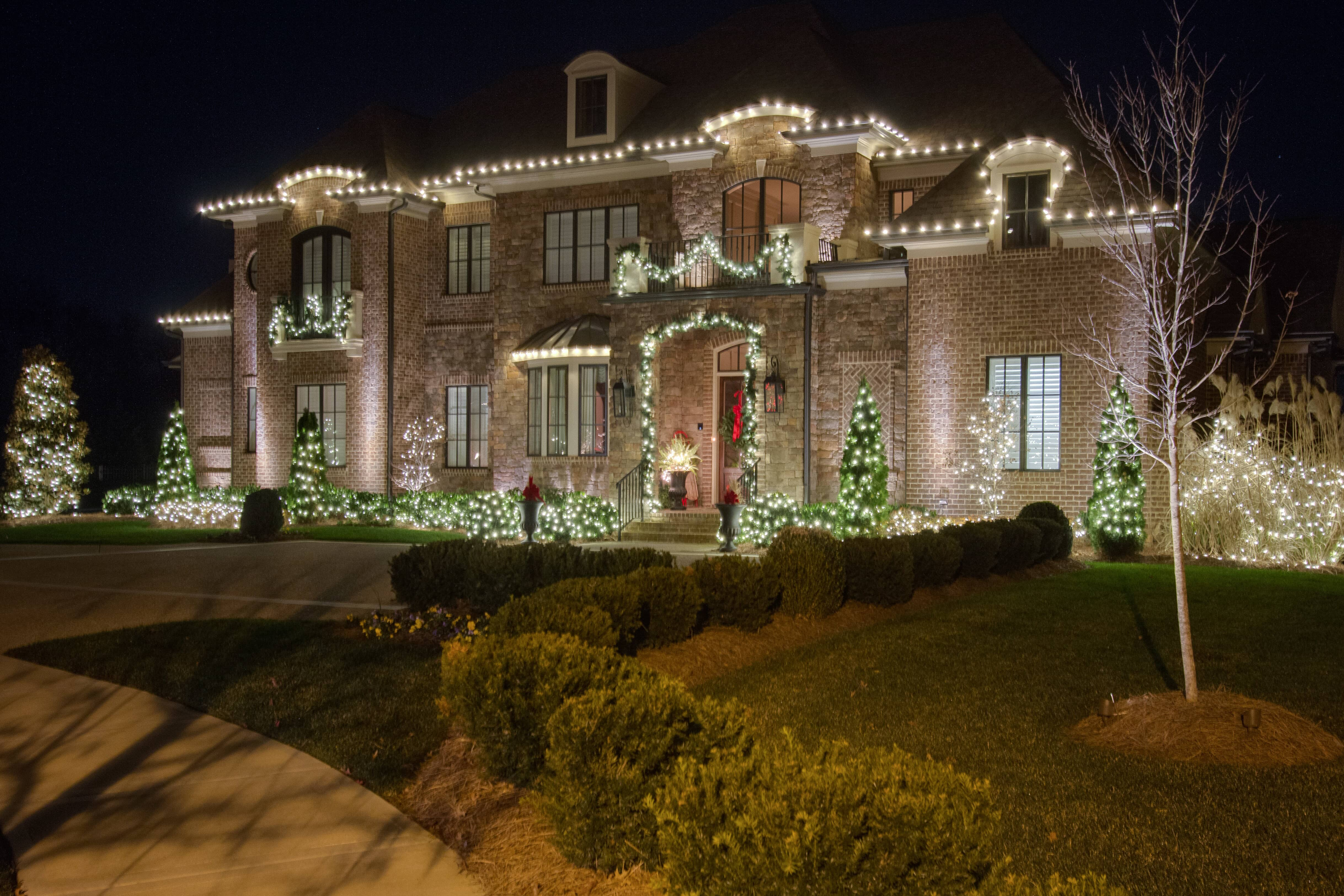 Jonesboro home with outdoor holiday lighting