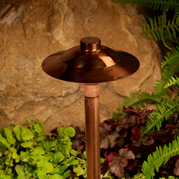 Copper outdoor path light