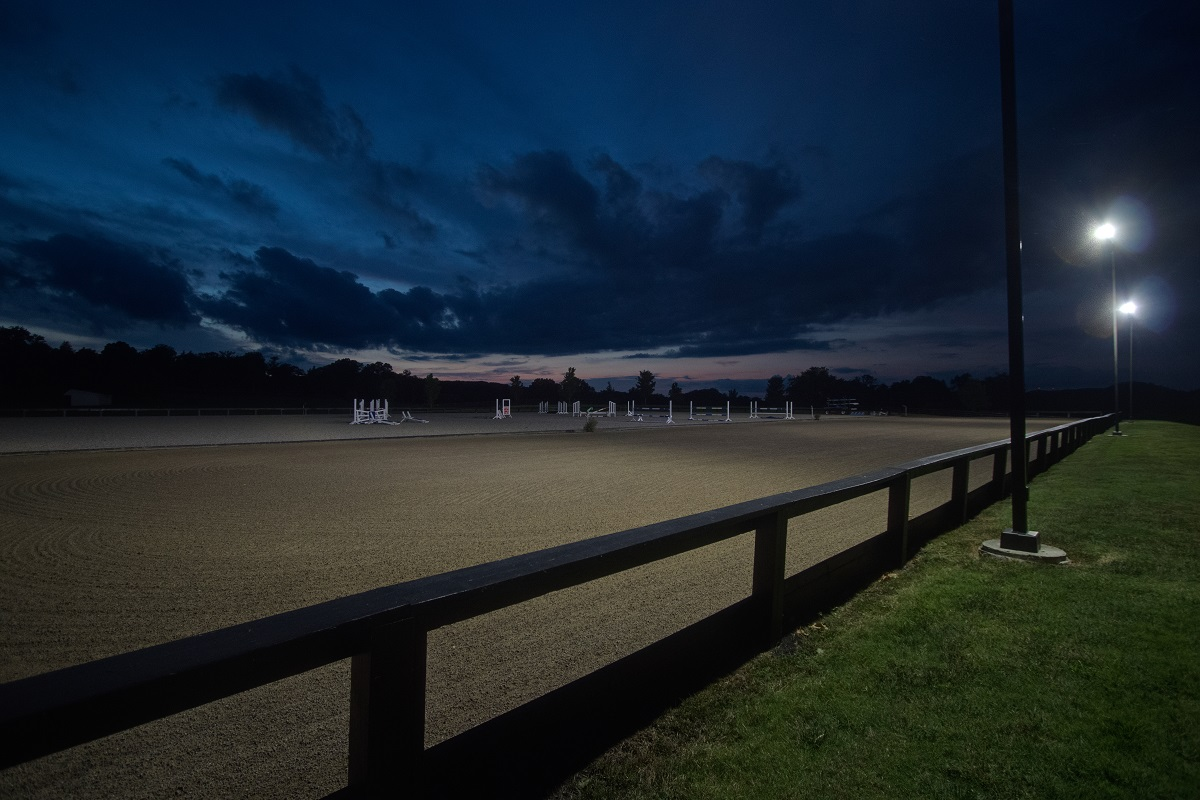 Nashville LED outdoor lighting at Brentwood equestrian facility
