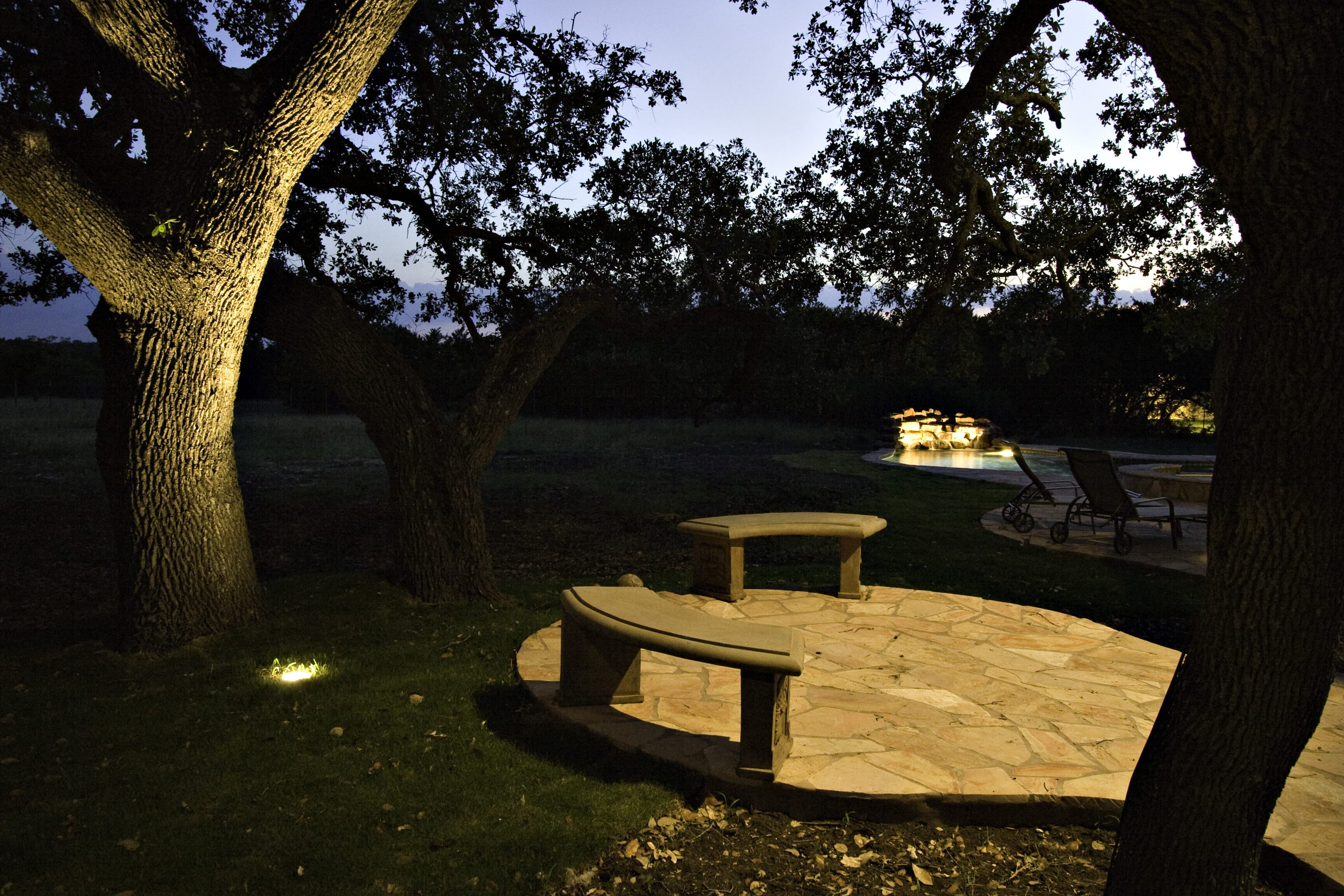 Patio backyard outdoor lighting