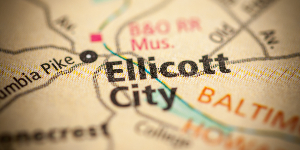 Map of Ellicott City
