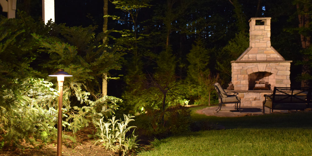 Pathway and chimney lighting