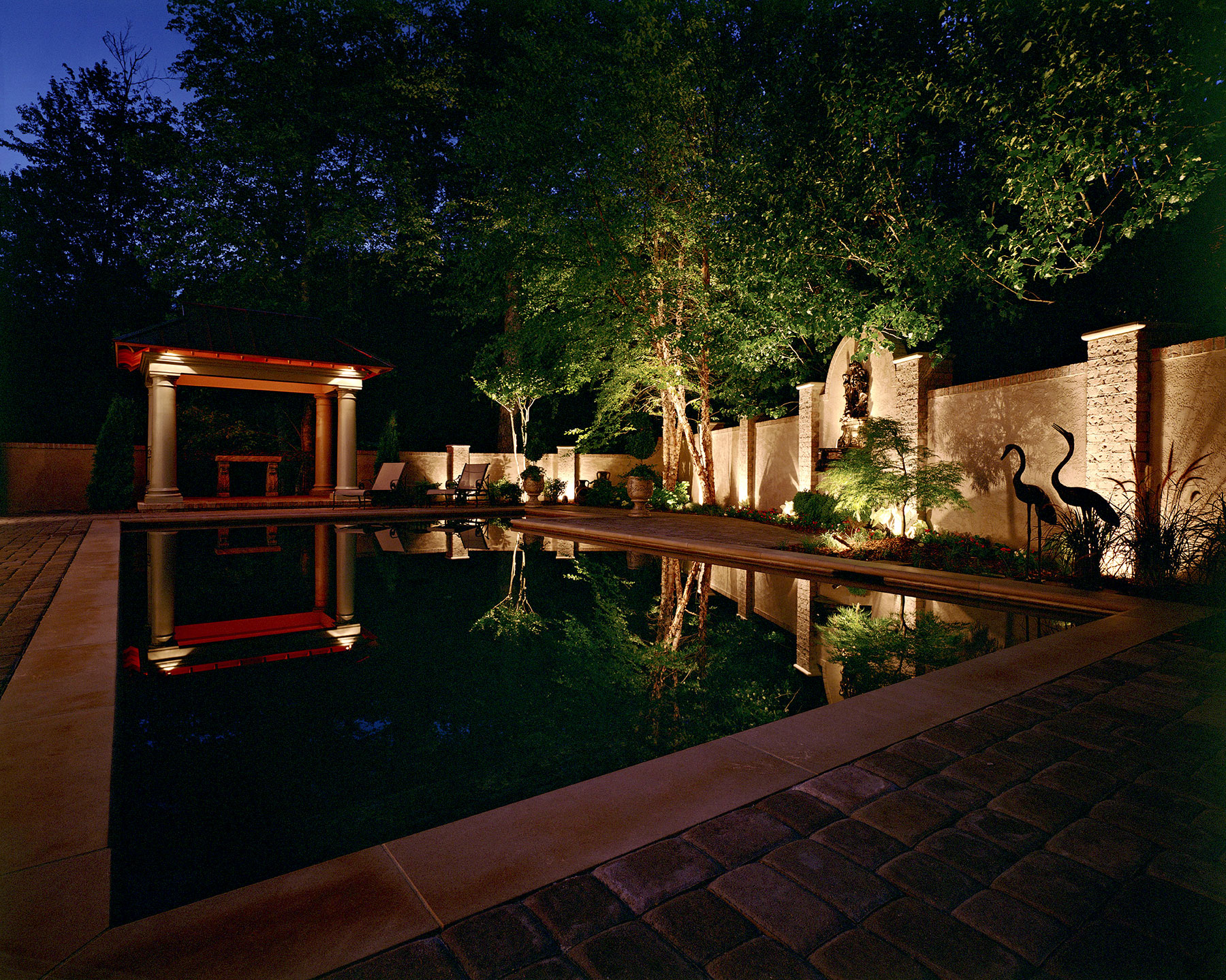Pool and surrounding area lighting
