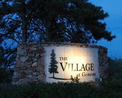 Exterior sign with lighting