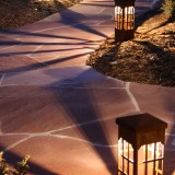 pathway with attraction lighting