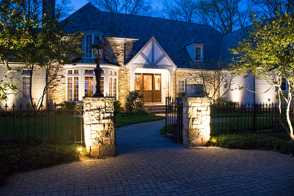 Exterior home with lighting