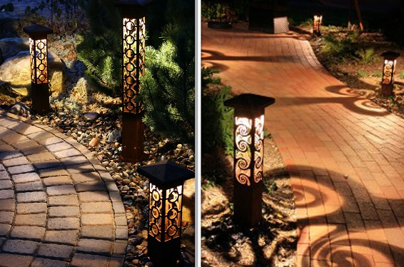 Examples of pathway lighting
