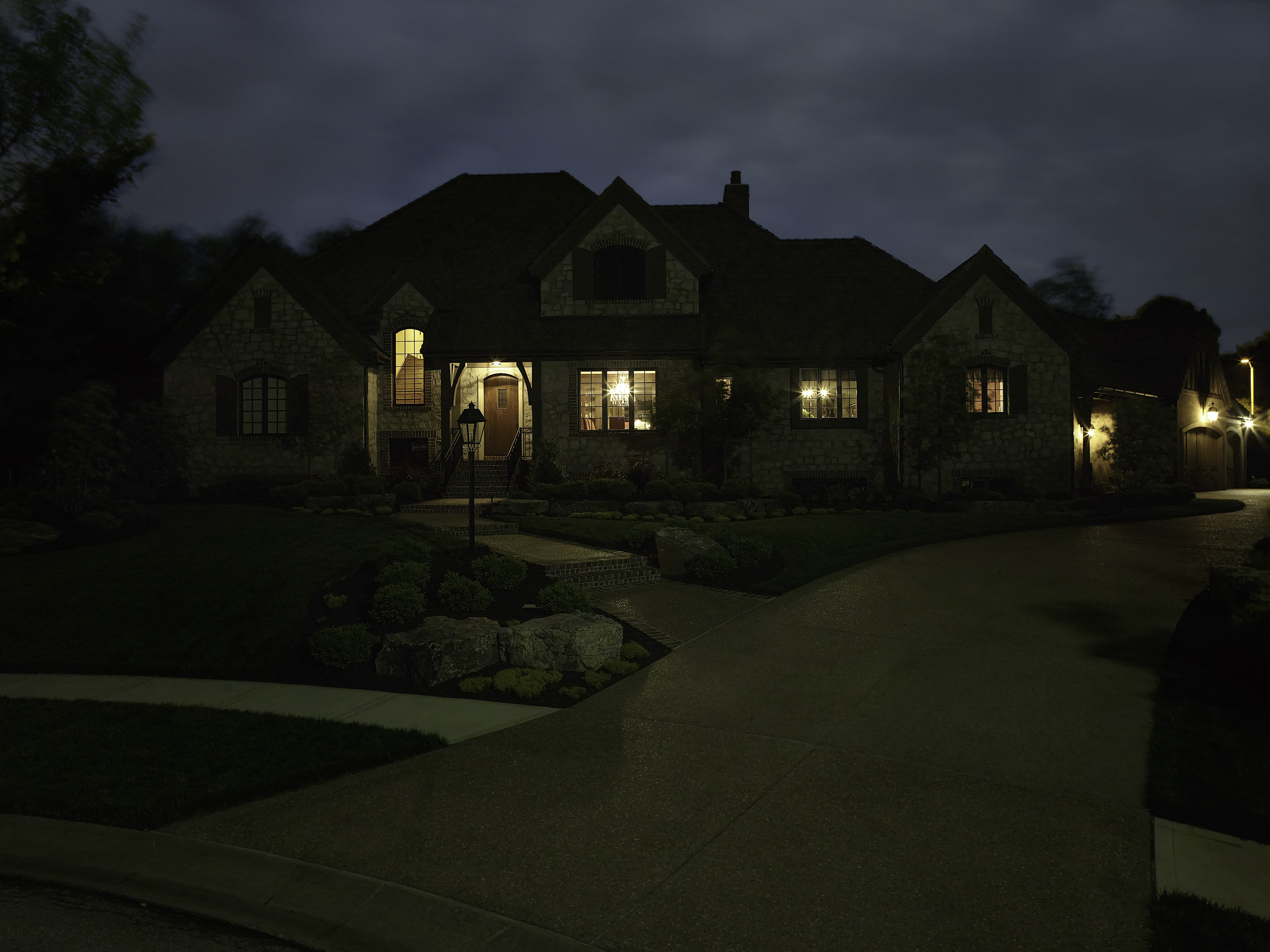 Before image of home with lighting