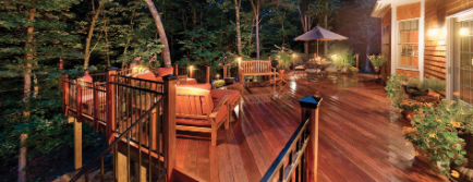Deck with specialty lighting