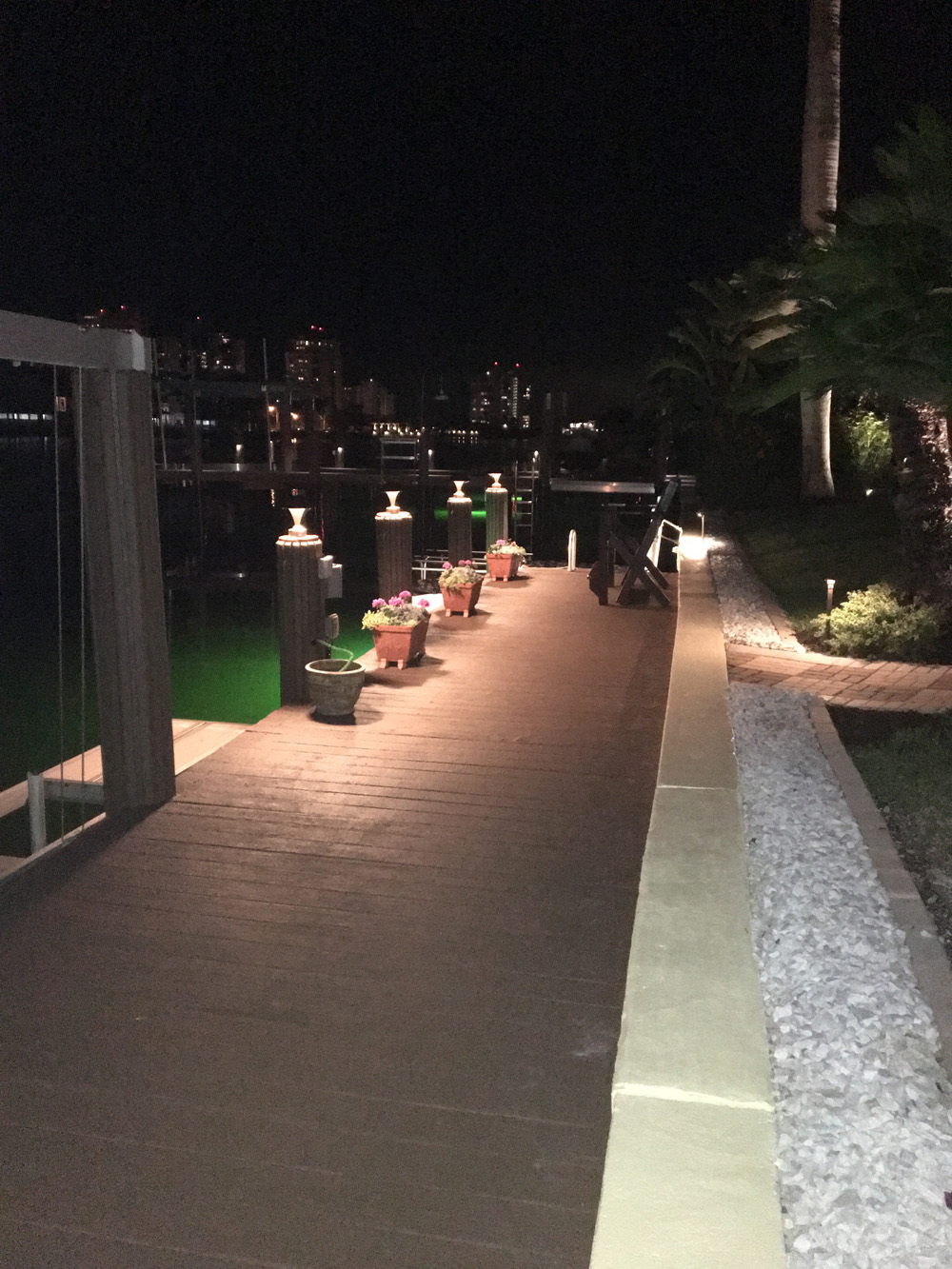 Dock with lighting