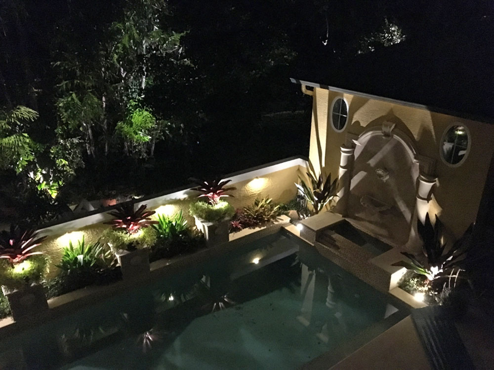 Pool with lighting for nighttime use