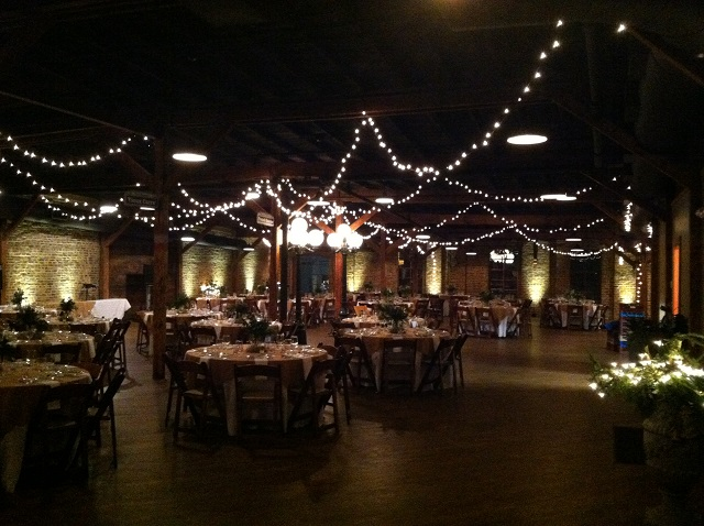 Banquet hall with specialty lighting