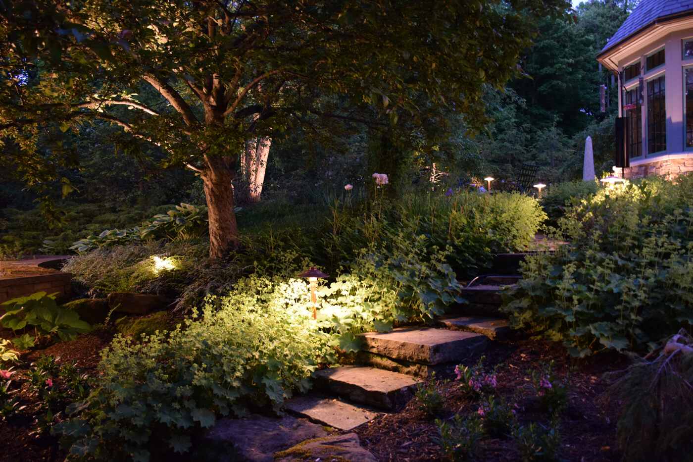 Pathway with LED lighting