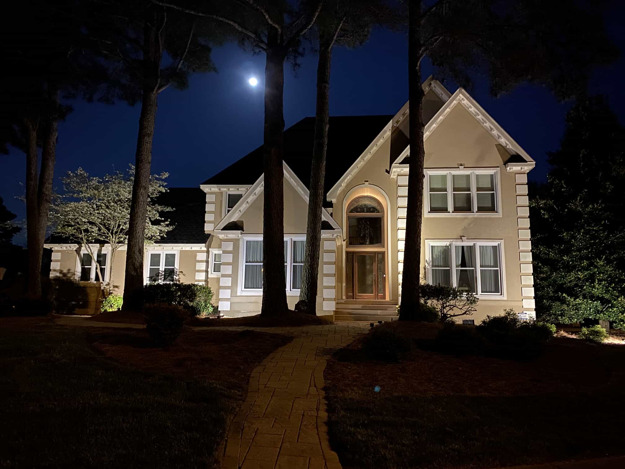home illumination lighting at night