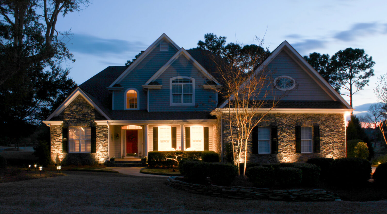 Beautiful home illuminated by Outdoor Lighting