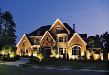 House illuminated by Outdoor Lighting
