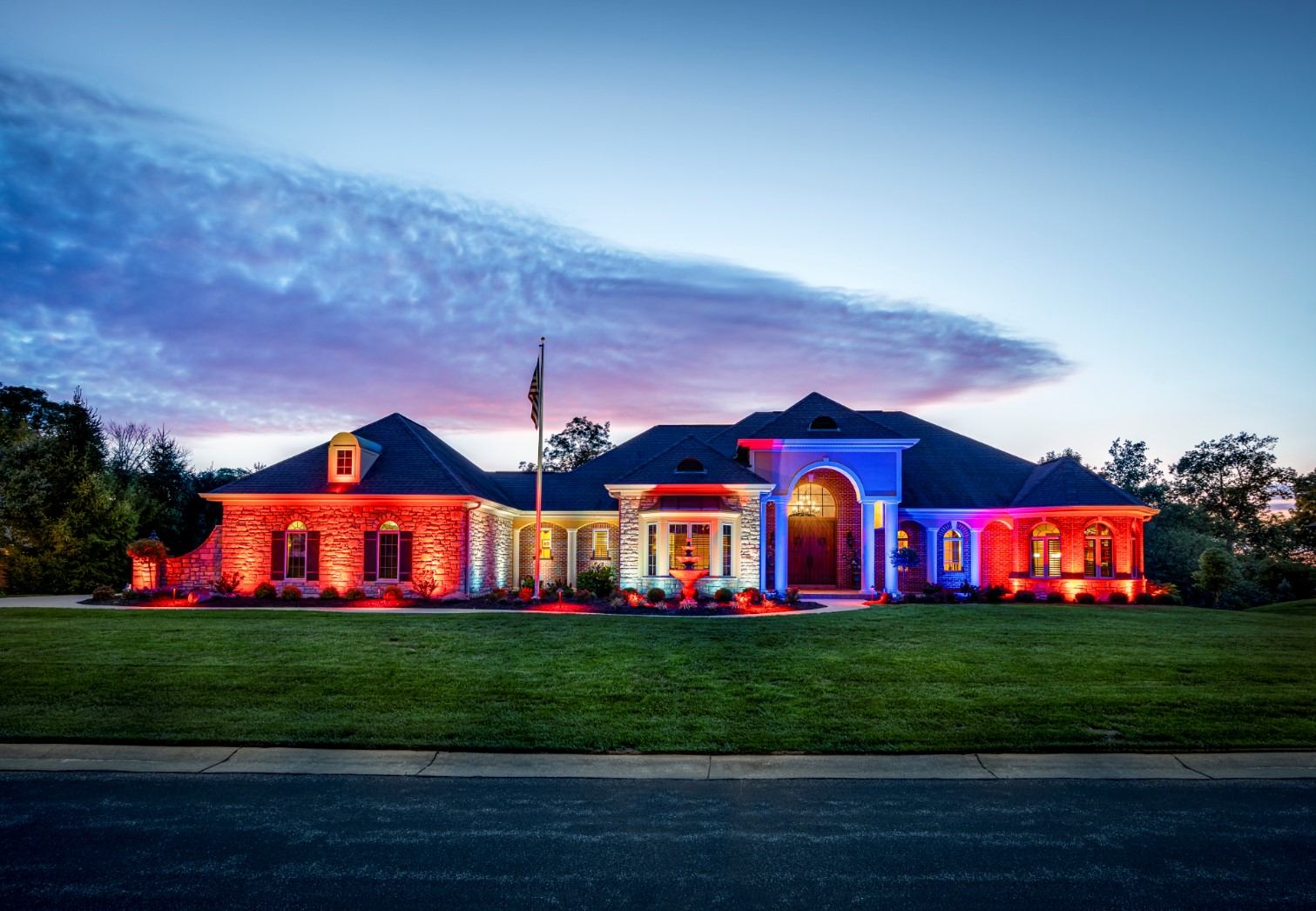 multicolored house lighting