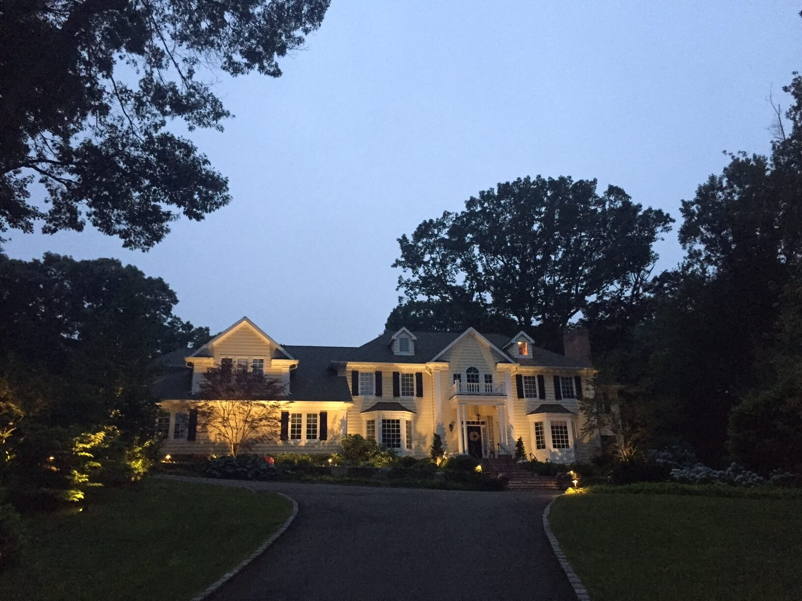 Outdoor lighting on home in the Hamptons, NY