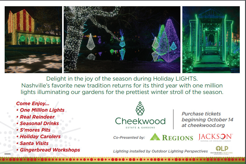 Cheeckwood Gardens Holiday Lighting Invitation