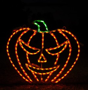 Pumpkin shaped lights
