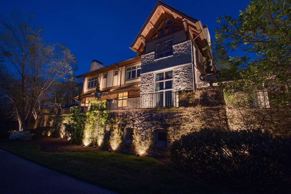 Exterior House Uplighting