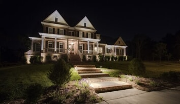 tennessee home facade lighting