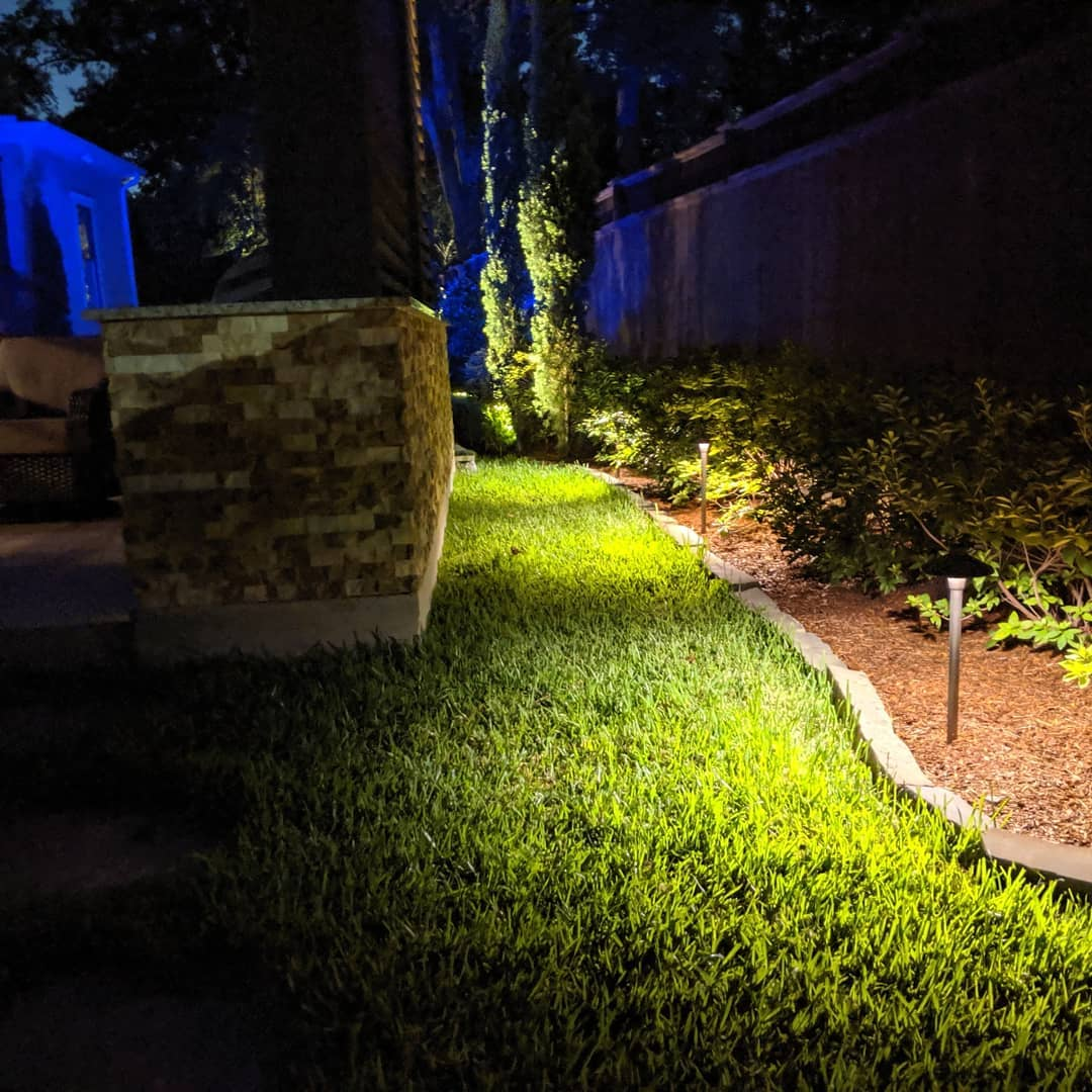 path lighting for landscape beds