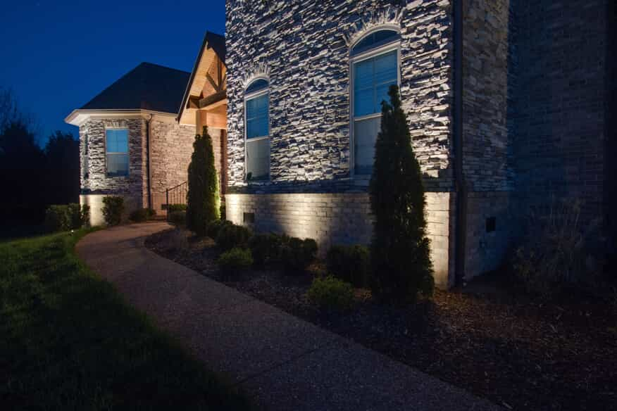 Home with professional landscape lighting