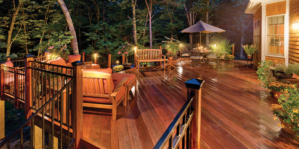 Deck with professional lighting