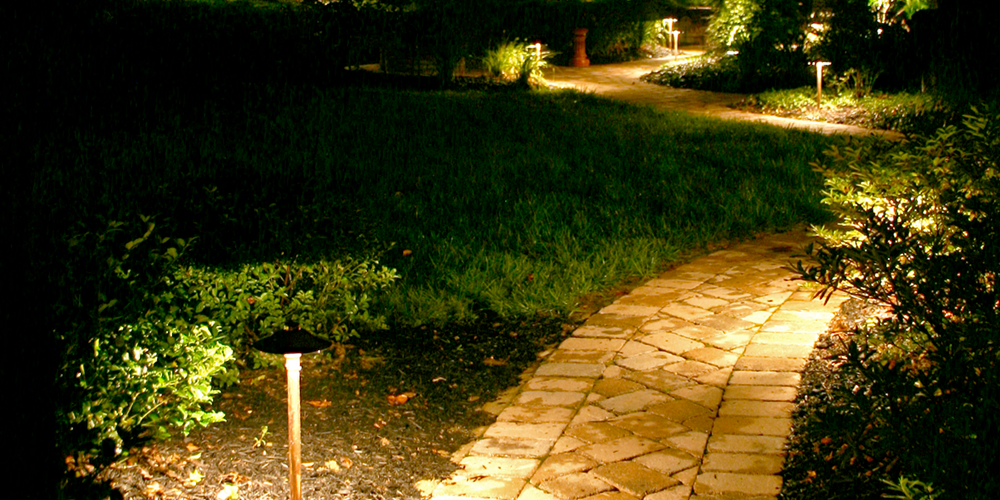 Pathway with special lighting