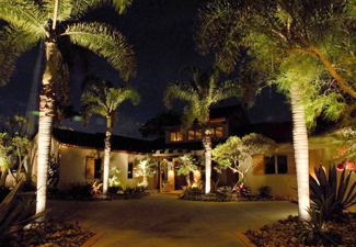Outdoor lighting at a home