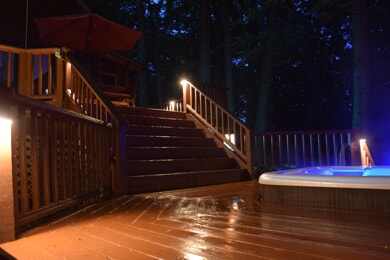 deck and hot tub lighting