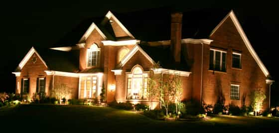 Outdoor lighting on a home