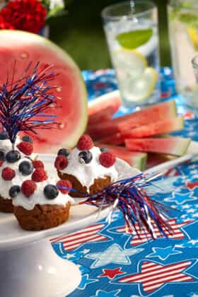 Fourth of July food and party decorations