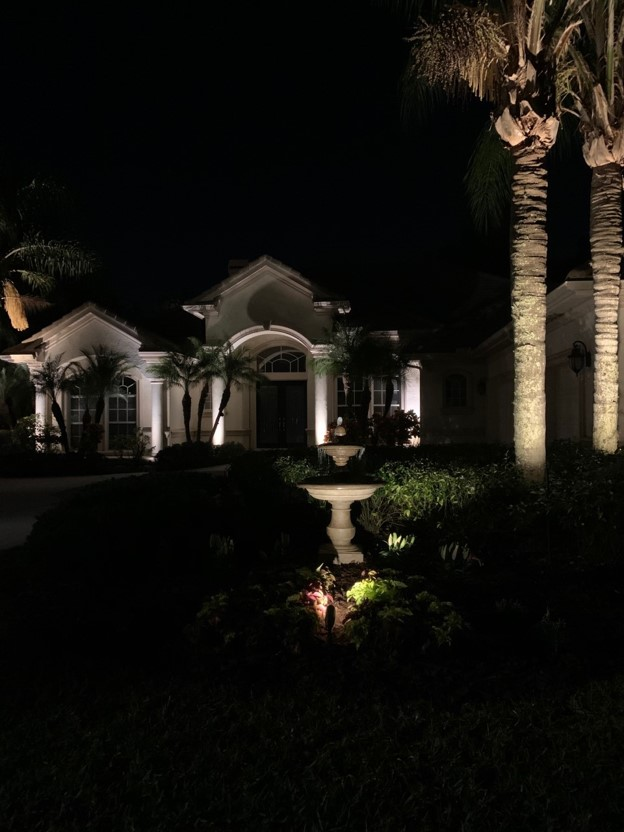 water feature landscape lighting