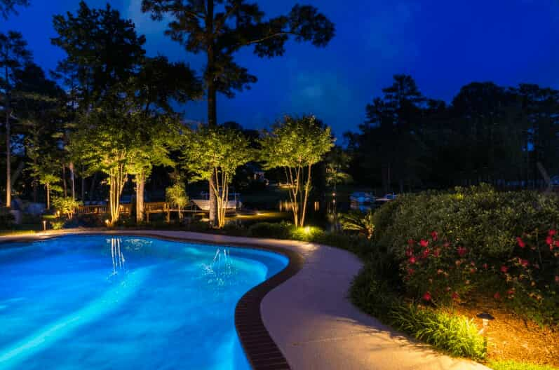 Pool & landscape with special lighting