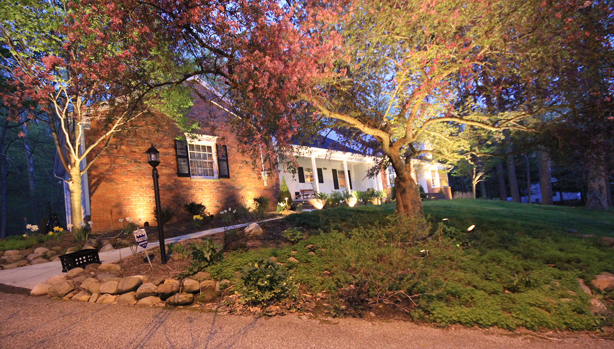 landscape lighting design in Akron OH
