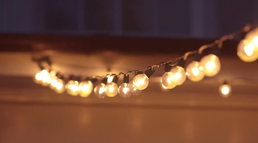 string of lights up close