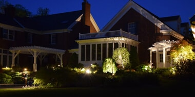 ohio home with low voltage landscape lighting